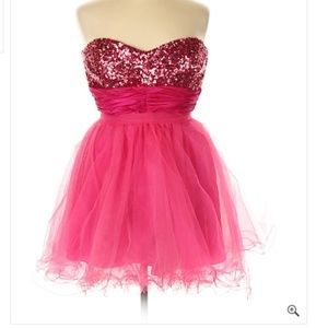 Dancing Queen 3X formal strapless cocktail prom